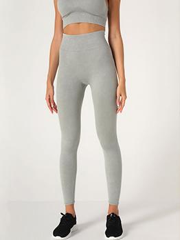 Yoga Solid High Waist Leggings For Women
