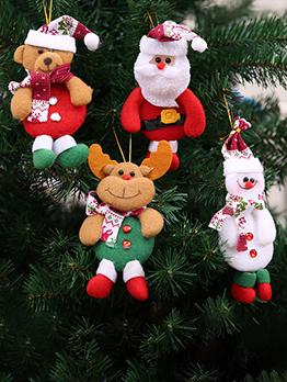 Cute Festive Santa Elk Christmas Tree Decoration