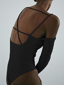 Autumn Design Long Sleeve One Piece Bodysuit