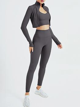 New Solid Yoga Three Piece Pants Set