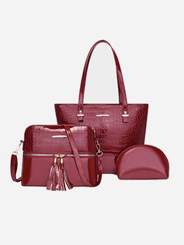 Versatile Alligator Print Handbag Sets For Women