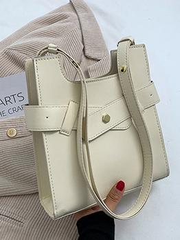 Designer Solid Zipper Tote Bag For Ladies