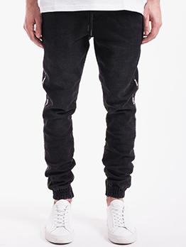 Fashion Casual Black Versatile Jeans For Men