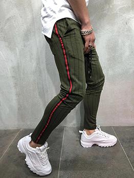 Summer Trendy Striped Drawstring Jogging Pants