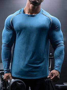 Casual Active Sport Men Long Sleeve Tees