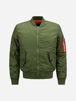 Solid Thicken Autumn Sport Jacket For Men