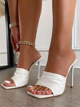 Sexy Night Club Square Toe Stiletto Heels