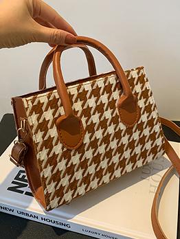 New Arrival Houndstooth Shoulder Bag Handbag For Women