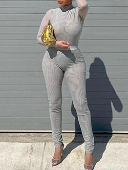 Sheath Long Sleeve Bodysuits And Pants Set