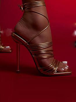 Nightclub Wear Sexy Stiletto Heeled Sandals