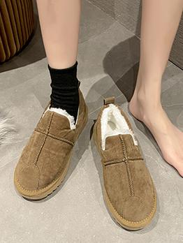 Casual Winter Plush Flats Cotton Shoes