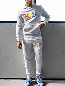 Fashionable Leisure Hooded Long Activewear Set