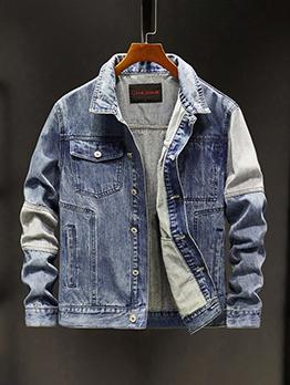 Trendy Vintage Korean Style Men Denim Jacket