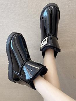 Winter Warmth Plush Korean Style Snow Boots