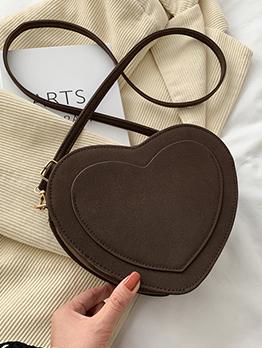 Dating Black Heart Shape Shoulder Bag For Women