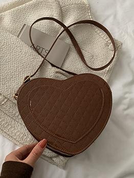 Black Rhombus Lattice Heart Cross Belt Shoulder Bag
