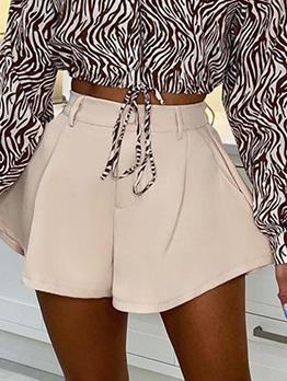 New Solid Characteristic Pocket Short Pants