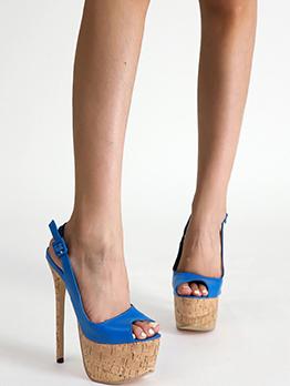 Night Club Contrast Color Platform Heels