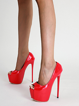 Sexy Peep Toe Platform Heels Shoes Women