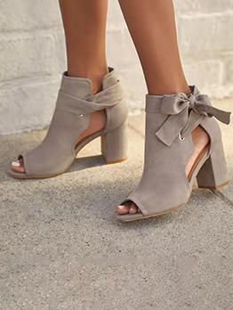 Fashion Peep Toe Lace Up Sandals Women