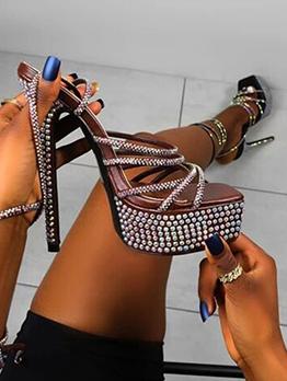 Night Club Rhinestone High Heels Sandals