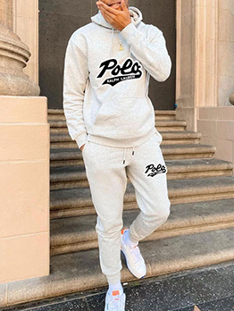 Latest Style Casual Hooded Two Pieces Outfits
