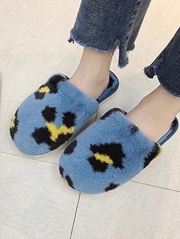 Winter Round Toe Faux Fur House Shoes