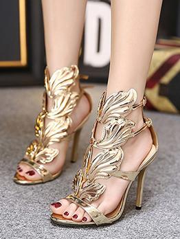 Night Club Wing Design High Heels Sandals