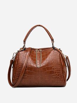 Versatile  Shopping Alligator Print Large Handbag For Women