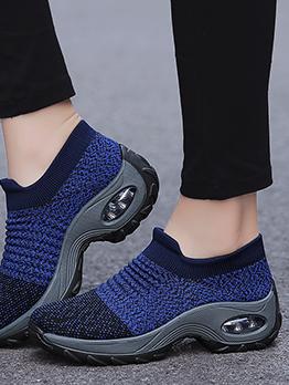 Popular Knitting Breathable Sneakers For Women