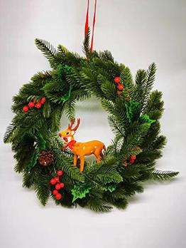 Festive Christmas Fawn Door Hanging Garland