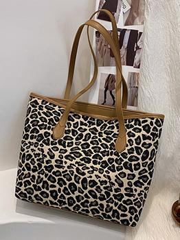Casual Leopard Zebra Tote Bag For Women