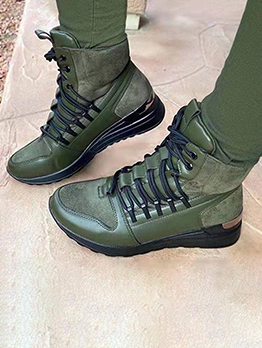 New Arrival Lace Up Cotton Women Boots