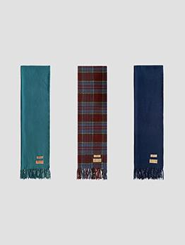 Korean Style Plaid Easy Match Imitation Cashmere Scarf