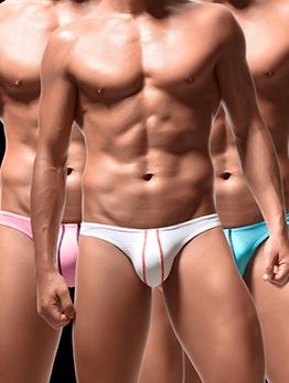 Ice Silk Low Cut Contrast Color Line Underwear