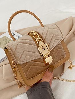 Stylish Patchwork Chain Shoulder Bag For Ladies
