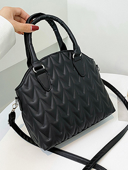 Chic Embossing White Solid Tote Bag For Ladies