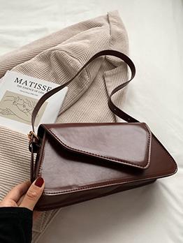 Korean Stylish Solid Hasp Shoulder Bag For Women