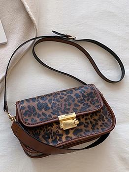 American Style Leopard Shoulder Bag For Women