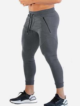 New Fitness Drawstring Ninth Track Pants Men