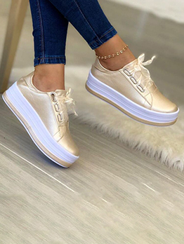 Lightweight Lace Up Casual Chunky Soles Shoes