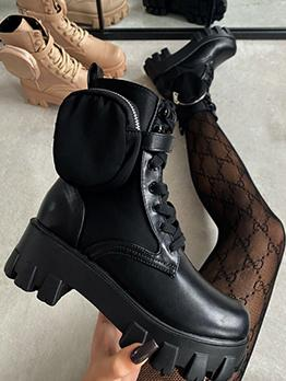 New Arrival Fashionable Chunky Ankle Boots