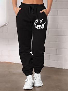 Casual Fashion Black Plus Size Jogging Pants