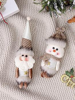 Cute Festive Santa Snowman Christmas Tree Pendant