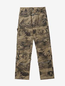 Vintage Street Trendy Cool Straight Long Pants