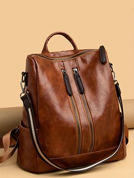 Travel Versatile Black Backpacks For Women