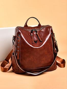 Travel Black Large Capacity Backpacks For Women
