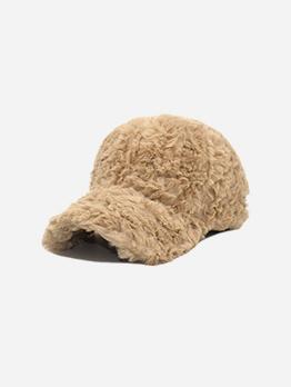 Warm Soft Solid Baseball Cap For Unisex