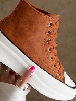 Casual Fall Latest Style High Top Wedge Shoes