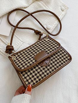 Trendy Houndstooth  Leopard Shoulder Bags For Women